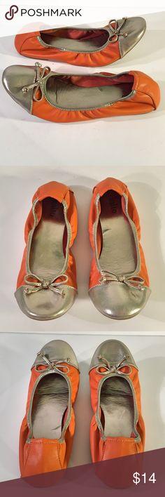 Rialto Orange & Silver Ballet Flats Rialto Orange & Silver Ballet Flats ~ Size 8 1/2 Rialto Shoes Flats & Loafers