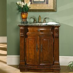 "Silkroad Exclusive Charlotte 33"" Single Bathroom Vanity Set & Reviews 