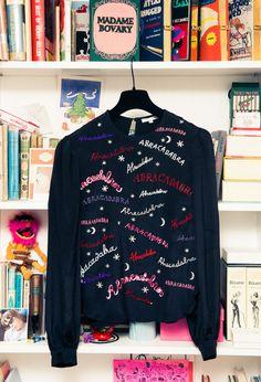 It's sweater weather people. http://www.thecoveteur.com/olympia-le-tan/ Olympia Le-Tan sweater