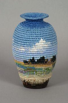 create fiber art with tapestry crochet