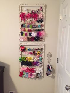 Hair bow storage!