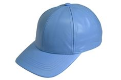 Sky Leather Baseball Cap