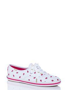 keds for kate spade new york kick sneakers, white/raspberry