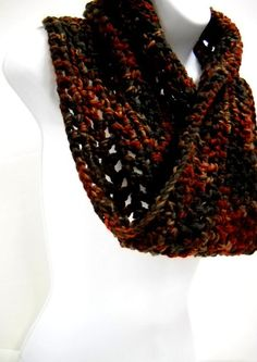 Fall Colors Cowl - Crocheted Neckwarmer - by Stitchknit. $25.00, via Etsy.