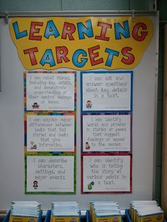 Common core standards learning targets