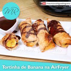 VÍDEO - Tortinha de Banana no Pão de Forma na AirFryer | Fritadeira sem Óleo - AirFryer