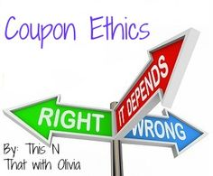 Couponing 101: Using Coupons Ethically