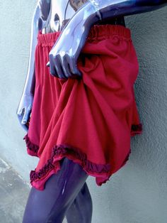 Upcycled  Tshirt Skirt  Red and Purple by JulieMarieSink on Etsy, $41.00