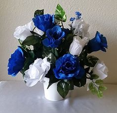 10 Piece Horizon Royal Blue White Table Centerpiece Flower Arrangement - Wedding Decoration -- More info could be found at the image url.