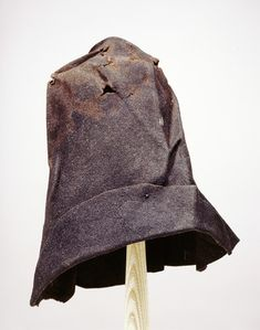 Museum of London    Workman's felt hat with the brim pinned back. This hat was found at Morgan's Lane in Southwark.     1559 AD - 1661 AD