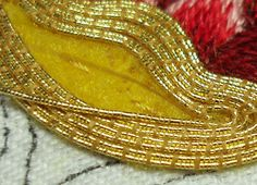 Gold work embroidery | Goldwork Embroidery: Filling with Passing Thread – Needle'nThread ...