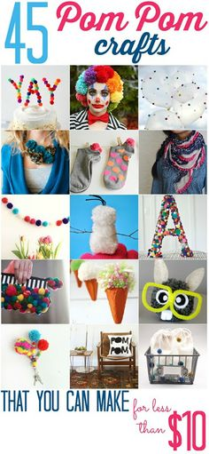 45 Pom Pom Crafts (that you can make for less than $10) - All Cheap Crafts