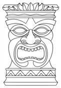 Tiki Totem Mask Coloring page