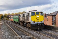 With just two RPSI carriages in tow (ex CIÉ Craven IE locomotive 083 approaches Drumcondra station with Mullingar-Inchicore RPSI carriage transfer, October Craven 1514 had been refurbished in the RPSI base at Mullingar. Locomotive, Ireland, Irish, Train, Irish Language, Zug, Locs, Strollers