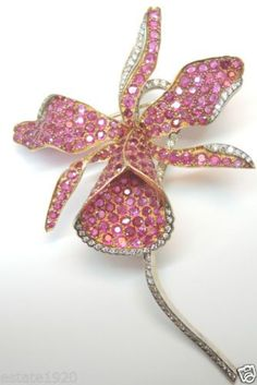 Antique Ruby, Diamond And Gold Brooch