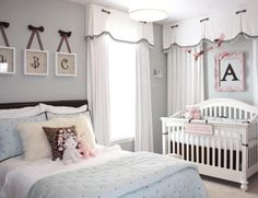 how smart to have an extra bed in the nursery this would be nice on those difficult nights