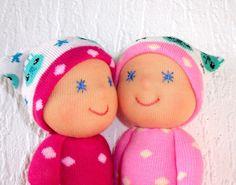 Waldorf twin dolls Christmas gift Pocket by WaldorfDollsByIren