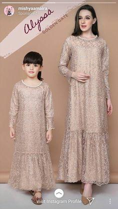 Dress Brokat Muslim, Dress Brokat Modern, Kebaya Modern Dress, Dress Brukat, Kids Dress Wear, Lace Dress, Hijab Evening Dress, Hijab Dress Party, Dress Anak
