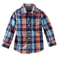 Plaid Poplin Shirt   OshKosh B'gosh