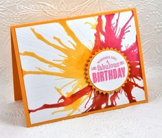 Make It Monday #114: Blown Ink - Fabulous Birthday Card by Dawn McVey for Papertrey Ink (April 2013)