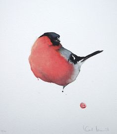 San Francisco-based artist Karl Martens creates stunning paintings of birds using Japanese and Chinese calligraphy brushes with watercolor…