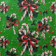 Sweet Canes LARGE Classic Christmas Wrapping Paper Obtain Picture Vintage Christmas Wrapping Paper, Vintage Christmas Images, Christmas Gift Wrapping, Christmas Paper, Retro Christmas, Vintage Holiday, Vintage Paper, Vintage Candy, Vintage Ephemera