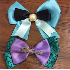 Hot Topic disney Little Mermaid Ariel hair bows Never worn! Hot Topic Accessories Hair Accessories