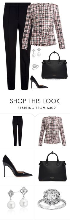 """""""Classic"""" by stylebyshannonk ❤ liked on Polyvore featuring Escada Sport, Balmain, Burberry and Blue Nile"""