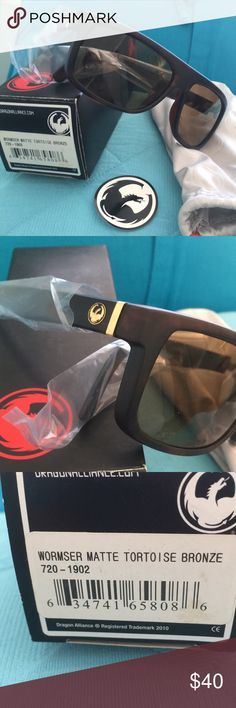 a058c1e42fa NWT Dragon Wormser Matte Tort Bronze Sunglasses NWT Dragon Wormser Matte  Tort Bronze Sunglasses New stock from a store I closed My loss Your gain  Fast ...