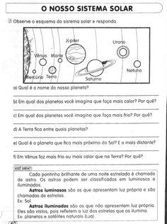 atividades sobre o sitema solar perguntas