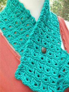 crochet broomstick lace scarf