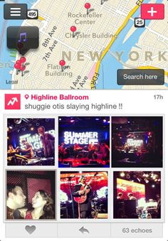 The Now app uses the instagram API to show you the hottest parties around you