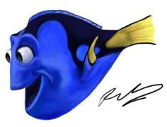 Dory Keep Swimming, Finding Dory, Disney Drawings, Disney And Dreamworks, Disney Art, Pixar, Sonic The Hedgehog, Art Projects, Childhood