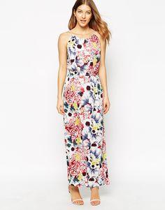 4f3ea17a7722 Image 4 of Vila Viflowan Printed Maxi Dress Patterned Bridesmaid Dresses,  Vila, Fashion Online