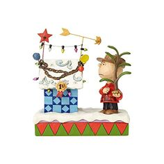 Enesco Peanuts by Jim Shore Charlie Brown  Decorated Doghouse -- Details can be found by clicking on the image. #XmasCollectibleFigurines