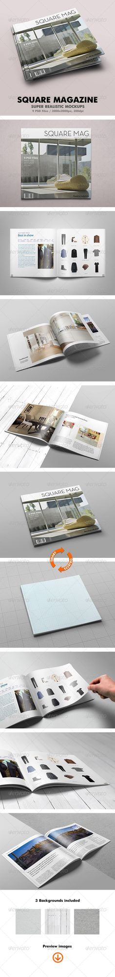 Square Magazine Mock Up Magazinemockup Journalmockup Download Graphicriver