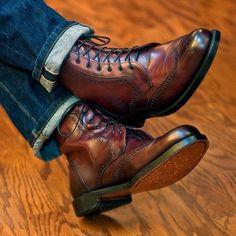 Allen Edmonds Dalton Boot in Oxblood Leather Brown Leather Ankle Boots, Ankle Boots Men, Shoe Boots, Leather Men, Best Shoes For Men, Men S Shoes, Allen Edmonds Dalton, Allen Edmonds Boots, Mens Boots Fashion