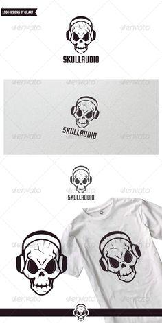 Audio Skull Logo Design Template Vector #logotype Download it here: http://graphicriver.net/item/audio-skull/7246561?s_rank=1281?ref=nexion