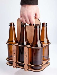 Specialty beer lovers will dig this reusable carrier - design it for hipster-friendly style and keep your brand at their fingertips year round.