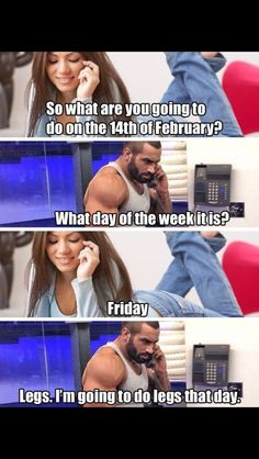 Check out: Funny Memes - Going to do legs. One of our funny daily memes selection. We add new funny memes everyday! Bookmark us today and enjoy some slapstick entertainment! Workout Memes, Gym Memes, Funny Memes, Funny Gym, Funny Quotes, Funny Workout, Gym Humour, Fitness Humor, Funny Fitness