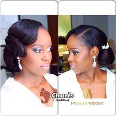 Nigerian wedding black bridal hair ideas and inspiration 40