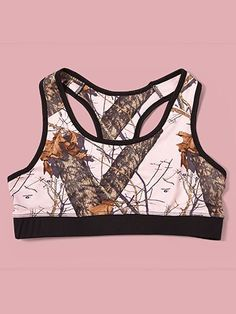 Wilderness Dreams black//pink mossy oak break up Sports bra,active wear NWT