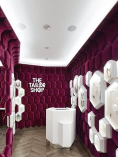 The Tailor Shop - Digital Ocean / Concepts - The Tailor Shop The Tailor Shop, Moscow. A project by Ippolito Fleitz Group – Identity Architects. Design Shop, Design Ppt, Wall Design, Design Ideas, Interior Design Photos, Office Interior Design, Luxury Interior Design, Interior Modern, Modern Luxury