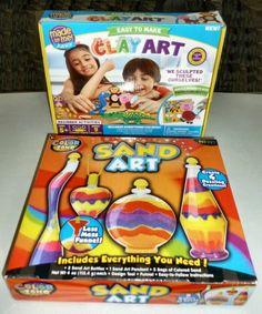 HORIZON BRAND CREATE SAND ART & CLAY ART  2 PC CHILDREN'S SUMMER CRAFT KIT SET #HORIZONGROUP