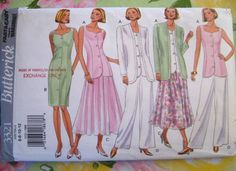 Unused Vintage BUTTERICK sewing PATTERN - Skirt, Pants, Dress, Top - #3321