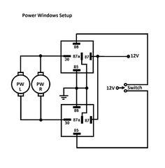 k 5 power window wiring diagram