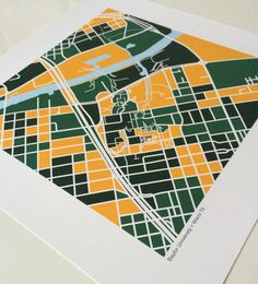 Baylor University map print // This is such a great way to remember your days walking around the Baylor campus!