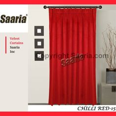 Pleated Curtains, Beautiful Curtains, All The Colors, Velvet, Formal Dresses, Link, Red, Collection, Home Decor