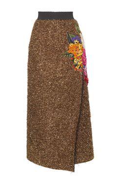 Eyelash Lurex Wrap Skirt by Dolce & Gabbana   Moda Operandi