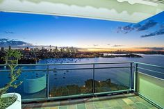 The four-bedroom penthouse of Retford Hall occupies the 18th floor of  a circa 1960s tower in Thornton Street at the tip of Darling Point.